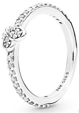 Pandora Srebrny pierścionek z motylem 197948 CZ (obwód 54 mm) srebro 925/1000