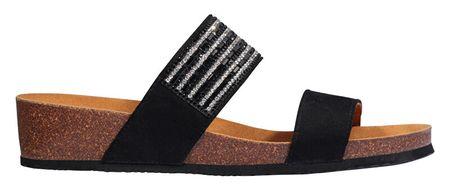 Scholl Dámské pantofle Daphne Bioprint Black F274141004 (Velikost 38)