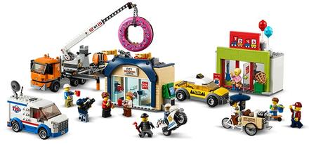 LEGO zestaw City 60233 Otwarcie sklepu z pączkami