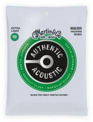 Martin Authentic Marquis 92/8 Phosphor Bronze Extra Light Kovové struny na akustickú gitaru