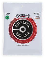 Martin Authentic Lifespan 2.0 80/20 Bronze Extra Light Kovové struny na akustickú gitaru