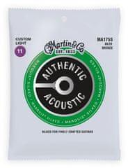 Martin Authentic Marquis 80/20 Bronze Custom Light Kovové struny na akustickú gitaru