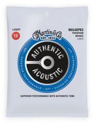 Martin Authentic SP 92/8 Phosphor Bronze Light - 3 Packs Kovové struny na akustickú gitaru