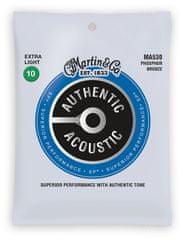 Martin Authentic SP 92/8 Phosphor Bronze Extra Light Kovové struny na akustickú gitaru