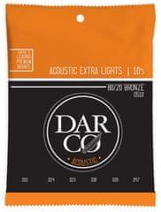 Darco 80/20 Bronze Extra Light Kovové struny na akustickú gitaru