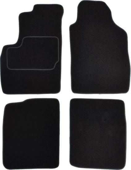 MAMMOOTH Koberce textilní, Fiat Panda II 2003-2012, černé, sada 4 ks