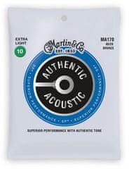 Martin Authentic SP 80/20 Bronze Extra Light Kovové struny na akustickú gitaru