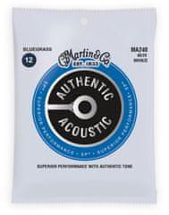 Martin Authentic SP 80/20 Bronze Bluegrass Kovové struny na akustickú gitaru