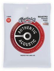 Martin Authentic Lifespan 2.0 92/8 Phosphor Bronze Light - 3 Packs Kovové struny na akustickú gitaru