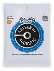 Martin Authentic SP 92/8 Phosphor Bronze Light/Medium Kovové struny na akustickú gitaru