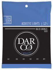 Darco 80/20 Bronze Light Kovové struny na akustickú gitaru