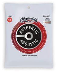 Martin Authentic Lifespan 2.0 80/20 Bronze Light Kovové struny na akustickú gitaru