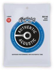 Martin Authentic SP 80/20 Bronze Light Kovové struny na akustickú gitaru