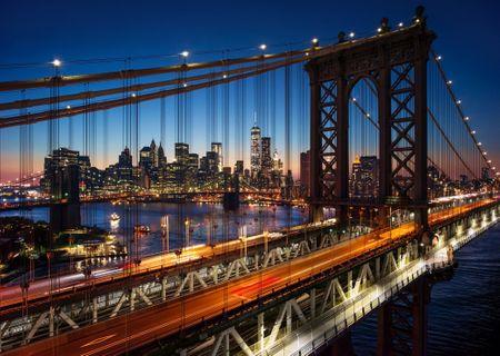 Grafika Puzzle 1000 dílků Brooklyn Bridge, Manhattan, New York