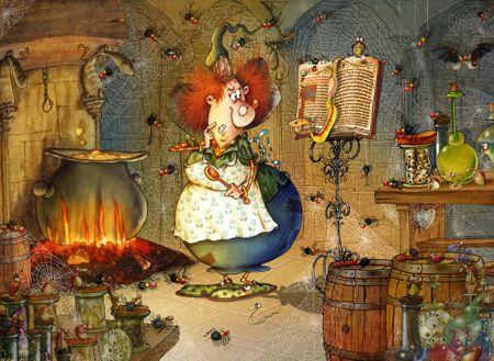 Grafika Puzzle 300 db François Ruyer - Witch