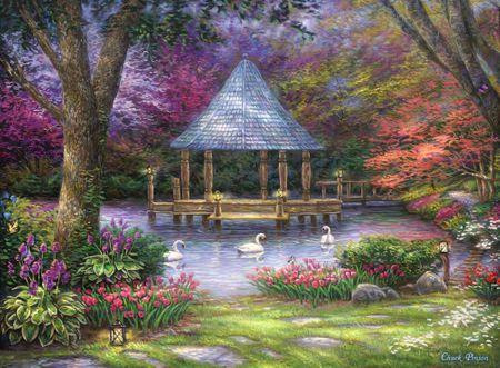 Grafika Puzzle 2000 db Chuck Pinson - Swan Pond