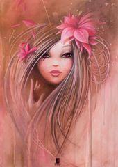 Grafika Puzzle 2000 db Misstigri: Sweet Pinky Girl