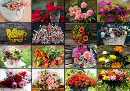 Grafika Puzzle 1000 db Collage - Flowers