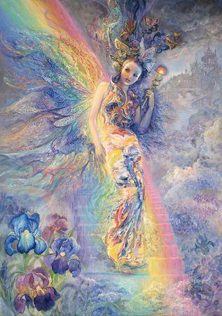 Grafika Puzzle 1500 db Josephine Wall - Iris, Keeper of the Rainbow