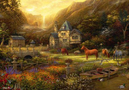 Grafika Puzzle 1000 db Chuck Pinson - The Golden Valley
