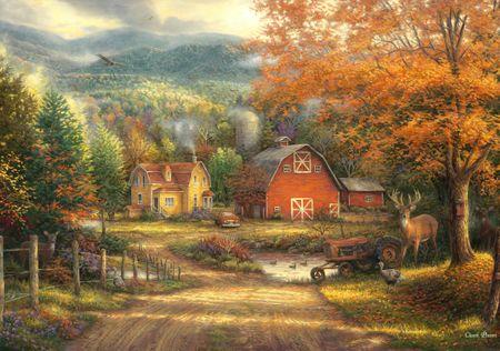 Grafika Puzzle 1000 db Chuck Pinson - Country Roads Take Me Home