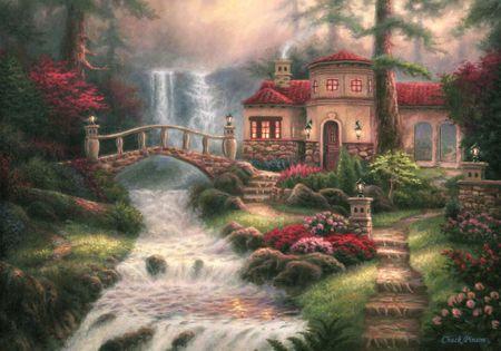 Grafika Puzzle 1000 db Chuck Pinson - Sierra River Falls
