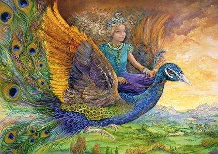 Grafika Puzzle 1500 db Josephine Wall - Peacock Princess