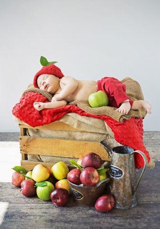 Grafika Puzzle 1000 db Konrad Bak: Baby and Apples