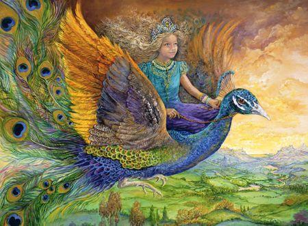 Grafika Puzzle 2000 dílků Josephine Wall - Peacock Princess