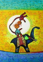 Grafika Puzzle 1000 pieces Anne Poiré & Patrick Guallino - Ganesh du Bonheur