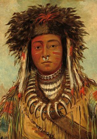 Grafika Puzzle 1000 dílků George Catlin: Boy Chief - Ojibbeway, 1843