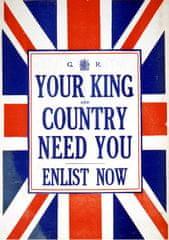 Grafika Puzzle 1000 db Affiche de Recrutement de l'Armée Britanique, 1914