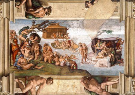 Grafika Puzzle 1000 dílků Michel Ange : Chapelle Sixtine (détail), 1509
