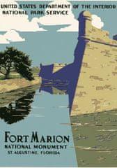 Grafika Puzzle 1000 db Affiche pour le Monument National de Fort Marion, 1