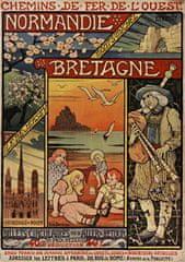 Grafika Puzzle 1000 pieces Affiche pour les Chemins de Fer de l'Ouest , 1900