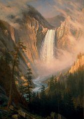 Grafika Puzzle 1000 pieces Albert Bierstadt : Les Chutes de la Rivière Yellows