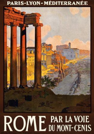 Grafika Puzzle 1000 db Affiche des Chemins de Fer - Rome par la voie du Mo