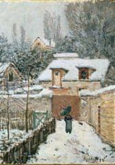 Grafika Puzzle 1000 pieces Alfred Sisley : La neige à Louveciennes, 1878