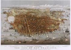Grafika Puzzle 1000 pieces Affiche Currier & Ives : La Ville de San Francisco