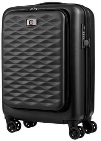 """Wenger LUMEN 20 """"dupla utazási bőrönd, fekete"""