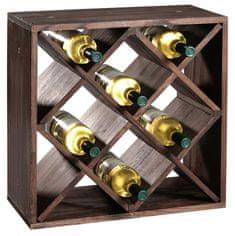 Kesper Stojan na víno min. pro 12 lahví, borovice tmavá