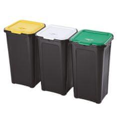 Tontarelli kosz na śmieci, trzykomorowy 3x44L