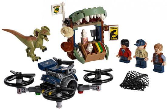 LEGO Jurassic World 75934 Dilophosaurus na útěku + LEGO Školní sada - Stationery set