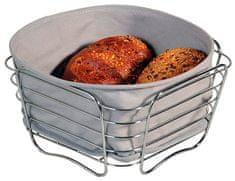 Kesper Chromový košík na chléb s bavlněnou vložkou, malý