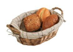 Kesper Oválný košík na chléb s textilní vložkou
