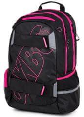 Karton P+P plecak anatomiczny OXY SPORT Black Line pink