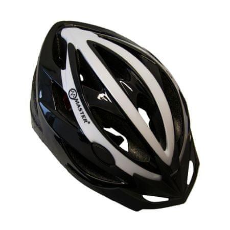 Master Cyklo přilba Force - L - černo-bílá