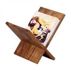 Bruxxi Stojan na časopisy Mumbai X-Form, 31 cm, masiv Sheesham