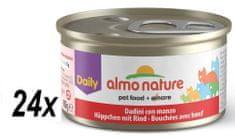Almo Nature Daily Menu konserwa z wołowiną 24x85 g