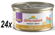 Almo Nature Daily Menu konserwa z kurczakiem 24x85 g